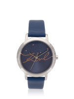 KARL LAGERFELD KL2238 Camille Leather Strap Blue