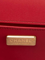 CHANEL Stingray and Leather Small Boy Bag Pink