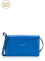 MARC JACOBS Empire City Leather Crossbody Ultra Blue