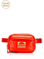 MARC JACOBS Leather Sport Belt Bag Poppy Red