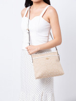 COACH 29960 Outline Signature File Crossbody Light Khaki Chalk