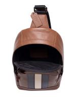 COACH Men 49318 Houston Varsity Sling Pack Saddle Midnight Navy Chalk