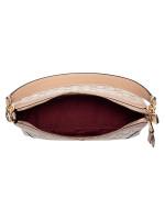 COACH 46285 Signature Ivie Small Shoulder Bag Light Khaki Beechwood