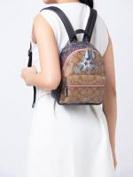 COACH 45312 Signature Star Mini Charlie Backpack Khaki Multi