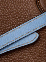 GUCCI Ramble Leather Large Reversible Tote Blue Brown