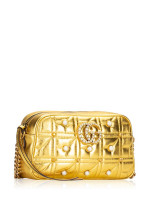 GUCCI GG Marmont Quilted Pearls Crossbody in Shining Gold