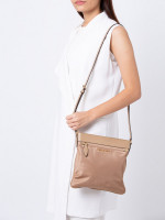 MICHAEL KORS Connie Nylon Large NS Crossbody Dark Khaki