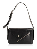 CELINE Medium Case Biker Shoulder Bag Black Sunflower
