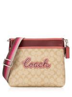 COACH 72896 Signature File Bag Light Khaki Multi