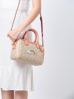 COACH 73122 Signature Rainbow Motif Mini Bennett Light Khaki Multi