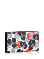 KATE SPADE Cameron Breezy Floral Large Slim Bifold Wallet Multi