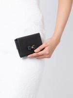 FURLA Glenda Leather Trifold Wallet Onyx