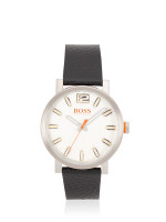 HUGO BOSS Men 1550035 Bilbao Leather Strap Black