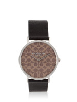 COACH 14503123 Perry Leather Strap Black Brown