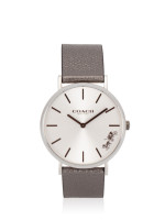 COACH 14503155 Perry Leather Strap Silver