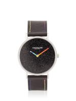 COACH 14503033 Perry Leather Strap Black Multicolor