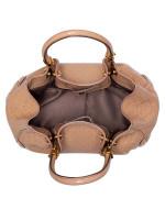 TOD'S Patent Leather Mini Crossbody Beige