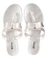 MICHAEL KORS Kayden Thong Sandals Silver Sz 7