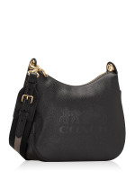 COACH 72702 Jes Leather Hobo Black