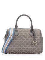MICHAEL KORS Bedford Signature Large Duffle Bag Heather Grey