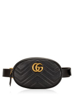 GUCCI GG Marmont Matelasse Belt Bag Black