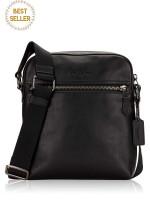 COACH Men 68014 Houston Leather Flight Bag Black