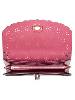 COACH 58072 Perforated Chain Crossbody Petal Strawberry