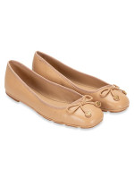 TORY BURCH Laila Driver Leather Flats Spark Gold Sz 7