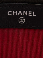 CHANEL Gabrielle Double Zip Clutch with Chain Black