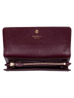 SALVATORE FERRAGAMO Vara Bow Continental Wallet Burgundy
