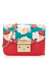 FURLA Metropolis My Play Interchangable Flap Mini Crossbody Ruby