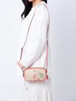 COACH 73007 Signature Lily Crossbody Pouch Light Khaki Pink Multi