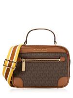 MICHAEL KORS Travel Monogram Top Handle Camera Bag Brown Luggage