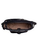 BURBERRY Grainy Leather Medium Susanna Hobo Black