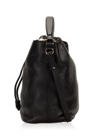 BURBERRY Grainy Leather Medium Susanna Hobo Black
