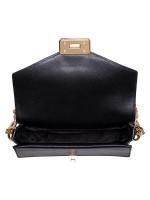MICHAEL KORS Kinsley Leather Medium Shoulder Flap Black