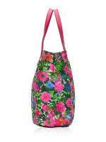 PRADA BN2851 Tessuto Stampato Tote Pink Floral