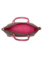 COACH 38089 Signature Mini Emma Satchel Khaki Pink Ruby