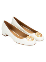 TORY BURCH Chelsea 25mm Heeled Ballet Flat Perfect Ivory Sz 9