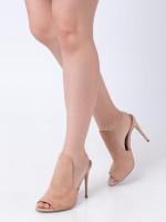 STEVE MADDEN Sinful Suede Heels Nude Sz 8.5