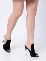 STEVE MADDEN Sinful Suede Heels Black Sz 7.5