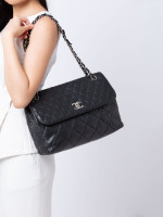 CHANEL Quilted Lambskin Business Flap Bag Black