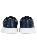 TORY BURCH Marion Quilted Lace Up Sneaker Bright Navy Sz 8