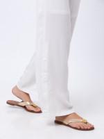TORY BURCH Maybell Metallic Thong Sandal Rosegold Sz 6.5