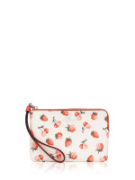 COACH 23674 Fruit Print Small Wristlet Chalk Multi
