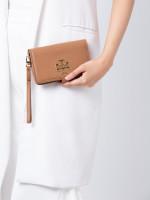 TORY BURCH Britten Small Leather Smartphone Wallet Bark