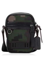 COACH Men 72927 Terrain Pixel Crossbody Camo Dark Green Multi