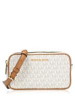 MICHAEL KORS Connie Monogram Small Camera Bag Vanilla Acorn