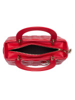 CHRISTIAN DIOR Lambskin Medium Lady Dior Red