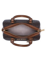 MICHAEL KORS Hayes Monogram Small Duffle Brown Luggage